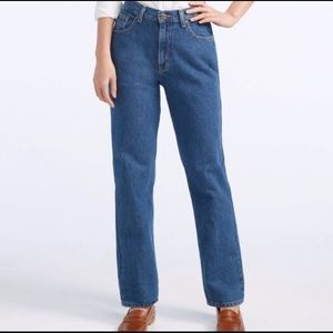LL Bean Double L Relaxed Fit Lined Women's Jeans